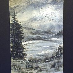 aceo original landscape £4.00