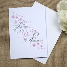 Love Blossoms Wedding Invitations  £2.29  This beautiful design features delicate falling blossom flowers teamed with elegant scripted w...