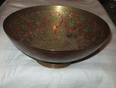 Vintage Rare Antike Orientalische Schmiede Schüssel Schale Napf tolle Handarbeit Serving Bowls, Decorative Bowls, Art Deco, Vintage, Bird, Tableware, Ebay, Home Decor, Shopping