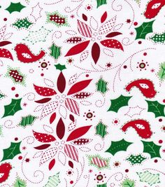 Holiday Inspirations Fabric-Holly