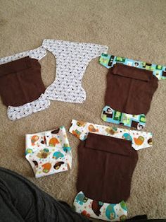 How to make your own newborn cloth diapers via @Amanda Snelson Fredrickson