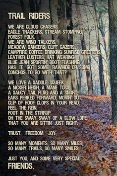 Trail rides poem