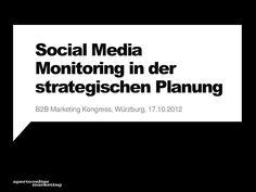 Social Media Monitoring in der strategischen Planung (B2B-Marketing...