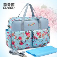 MultiColored diaper bag outdoor baby care nappy bags waterproof multifunctional mother shoulder bag Large-capacity baby bag