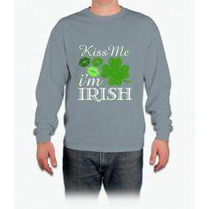 Kiss Me I'm Irish St. Patrick's Day Irish T-shirt Long Sleeve T-Shirt