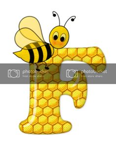 Alphabet letters bee on honeycomb. Bee Pictures, Scrapbook Letters, Bee Party, Cute Bee, Alphabet And Numbers, Alphabet Letters, Queen Bees, Preschool Crafts, Honeycomb