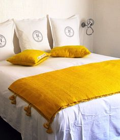 Honore Decoration Yellow Throw Remodelista