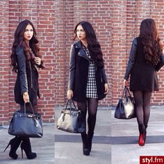 winter outfit - black leggings.