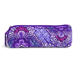 Vera Bradley Brush & Pencil Case in Lilac Tapestry ($24) ❤ liked on Polyvore featuring home, home decor, office accessories, lilac tapestry, vera bradley pencil case, coloured pencils, vera bradley pencils, colored pens and colored markers