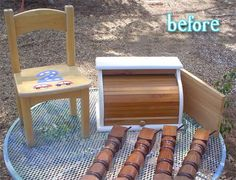 People are so creative! What a ridiculously cute idea! Made from an old breadbox and discarded coffee table legs. I would have played with this all day long as a kid.