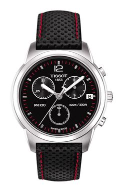 Tissot PR 100 Men's Black Chrono Classic Watch