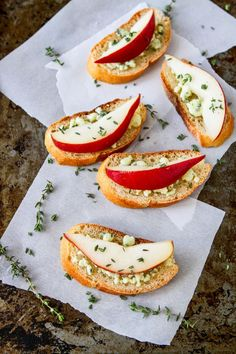 Pear and Blue Cheese Crostini from @cookincanuck