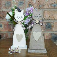 Unique handmade Gifts – Personalised For You Cute rustic wooden cats Diy Projects To Try, Crafts To Make, Craft Projects, Arts And Crafts, Cat Crafts, Easter Crafts, Christmas Crafts, Kids Crafts, Wooden Cat