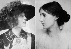 """orplid: """" Virginia Woolf and her lover, the English poet Vita Sackville-West """"Look here Vita — throw over your man, and we'll go to Hampton Court and dine on the river together and walk in the garden. Virginia Woolf, Vita Sackville West, English Poets, Lgbt Love, Dark Thoughts, Look Here, Book Writer, Hopeless Romantic, Great Love"""