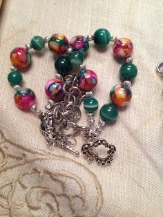 Mother of pearl 3 strand bracelet. SOLD