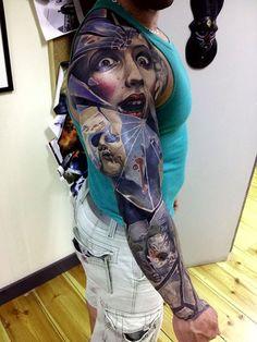 Mens Full Sleeve #Tattoo