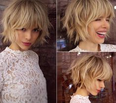 Curly Prom Hair, Curly Hair With Bangs, Curly Hair Styles, Short Shaggy Haircuts, Bob Hairstyles With Bangs, Curled Ponytail Hairstyles, Short Shaggy Bob, Short Dark Hair, Short Hair With Layers