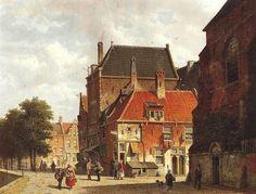 Adrianus Eversen (1818-1897) - Veduta di città