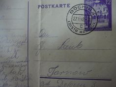 Postcard from Josef Kempler's brother-in-law Jack Laub, who was in the Tarnow Ghetto in Poland, to Kempler family living in the Bochnia Ghetto, Poland, 1942. The Altered I is available on Amazon and Google Play Books.  https://play.google.com/store/books/details/April_Voytko_Kempler_The_Altered_I?id=kUxNAgAAQBAJ