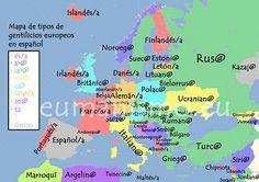 Mapa gentilicios - nacionalidades