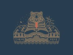 Peaceful Bear by Brian Steely