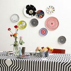 Decorare le pareti con i piatti! 20 idee originali per ispirarvi...