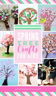 Spring Tree Crafts for Kids | Easy DIY projects for preschool, toddlers and beyond to celebrate the spring season. Creative Cherry Blossom art ideas to make at home or in the classroom. #spring #springcrafts #forkids #DIY #preschool #cherryblossom #artproject