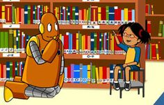 "BrainPOP Jr. | Library | Lesson Ideas - Movie:  Choosing a Book.  But I love it when they ask, ""Where do you keep the GOOD books?"""