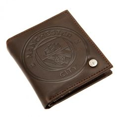 Embossed Detail And Metal Crest Stud Luxury Lining Multiple Card Slots Photo Slot Stud Fix Money Pouch Inside Approx X On A Header Card Official Licensed Product Product model: Pouch, Wallet, Manchester City, Header, Slot, Money, Luxury, Detail, Gifts