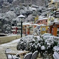Parga is beautiful. and the winter, Epirus, Greece Mykonos, Santorini, Places Around The World, Around The Worlds, Beautiful World, Beautiful Places, Paros, Places In Greece, Greece Holiday