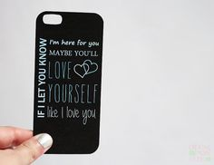 iPhone 5 Insert One Direction Little Things Black Inspired on Etsy, $2.75