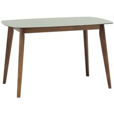 CYRUS GLASS TOP DINING TABLE - 120 CM WALNUT (DN022(S)