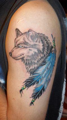 Resultado de imagen para tatuajes de lobos para hombres