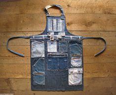 denim patch apron