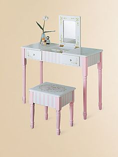 For kids of all ages.    Teamson Bouquet Vanity Table & Chair