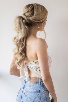 Summer Hairstyles For Medium Hair, Girly Hairstyles, Cute Simple Hairstyles, Easy Hairstyles For School, Down Hairstyles, Beach Hairstyles, Cute Everyday Hairstyles, Summer Ponytail, Stylish Ponytail