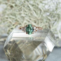 Details about  /1.93CT Green Round Diamond Women/'s Engagement 925 Sterling Silver Ring