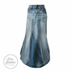 Outfit Jeans, Lässigen Jeans, Denim Skirt Outfits, Jeans Rock, Maxi Denim Skirts, Midi Skirts, Long Skirts, Clothing Size Chart, Plus Size Womens Clothing