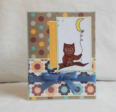 Owl Card Paper Handmade Greeting Card Blank by ArtsyArtsGreetings