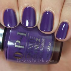 OPI Purpletual Emotion | Spring 2015 Infinite Shine Collection | Peachy Polish #purple
