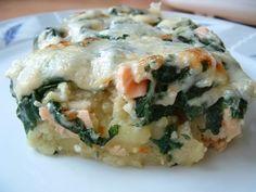 Recette de Gratin pommes de terre, saumon, épinards : la recette facile