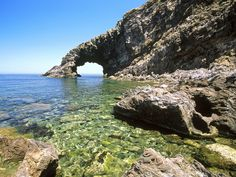 Arco delElefante Pantelleria Island Sicily Italy - Photo 3 of 45 in It Oh The Places You'll Go, Places To Travel, Places To Visit, Lonely Planet, Taormina Sicily, Trapani Sicily, Beau Site, Sicily Italy, Beach Pictures
