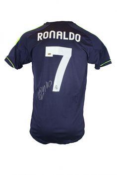 CRISTIANO RONALDO JERSEY-BLUE REAL MADRID A6726 / HARRISON AUTOGRAPHS HA903CRO