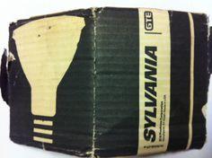 1970's Vintage Sylvania l GTE Light Bulb packaging