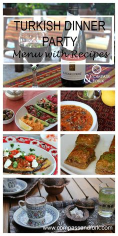 Turkish Dinner Party Menu with Recipes www.compassandfork.com