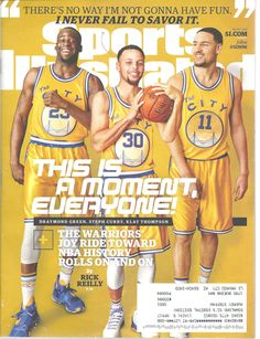Draymond Green, Steph Curry and Klay Thompson Basketball Sports Illustrated Magazine, March 7, 2016