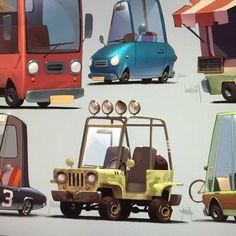 Cars, Alexandr Pushai on ArtStation at https://www.artstation.com/artwork/RJKoO