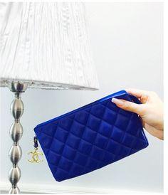Vintage Chanel blue pouch~www.hedyjp.com