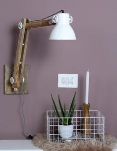 Scandinavische wandlamp leesarm Light&Living Efren wit Home Decor Furniture, Wall Lights, Lighting, Design, Wooden Lamp, Woodworking Ideas, Lights, Handmade Lamps, Standing Lamps