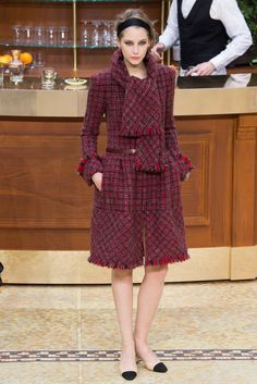 I'd dress this up with a pair of really fun, colourful tights. Chanel Fall 2015 Ready-to-Wear - Collection